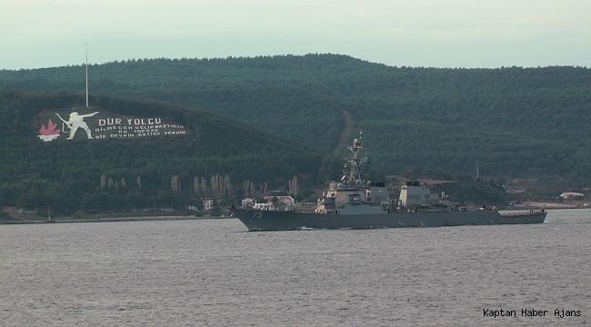 ABD savaş gemisi boğazdan geçti