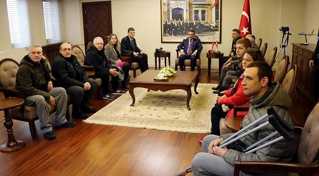 Batan gemiden kurtulan mürettebattan Türk ekiplerine teşekkür