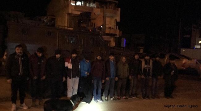 Tekirdağ'da 12 kaçak göçmen yakalandı