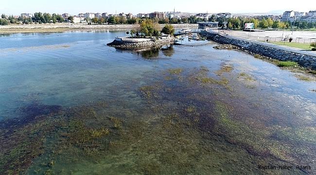Beyşehir Gölü'nün su seviyesi yağışlarla yükseldi