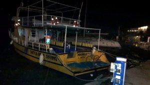 Datça'da fırtına tekneleri beşik gibi salladı