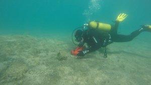 Akyarlar'da deniz dibi temizliği