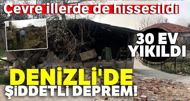 Denizli'de şiddetli deprem |Çevre illerde de hissedildi