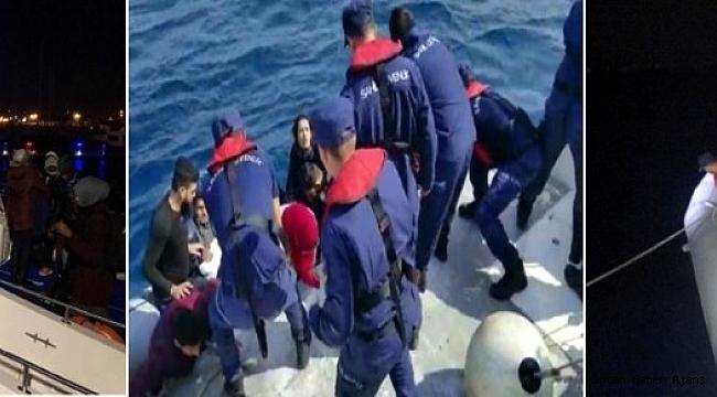 İzmir'de 56 göçmen yakalandı, faciadan kıl payı dönüldü