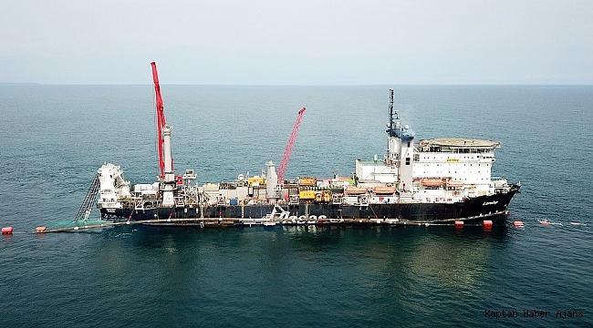 TürkAkım'ın Karadeniz'deki boru hattı sistemi bütünüyle tamamlandı