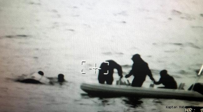 Boğulmak üzere olan mültecileri Sahil Güvenlik kurtardı