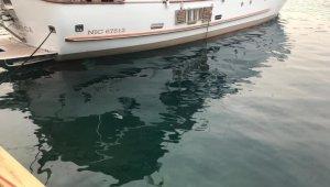 Denizi kirleten motor yata 17 bin 450 lira ceza