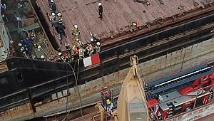 Tuzla'da gemi yangını: Sormovsk 118 adlı gemide yangın çıktı