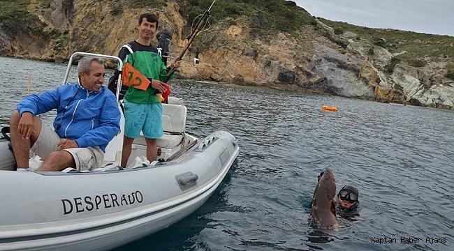 Zıpkınla Balık Avı Türkiye Şampiyonası Finallleri'nin eleme yarışları yapıldı