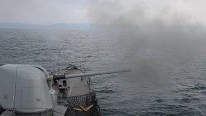Deniz Kurdu-2019 tatbikatında top atışları başladı