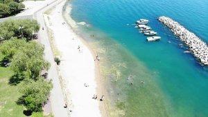 İstanbul'da sıcaktan bunalanlar kendini denize attı
