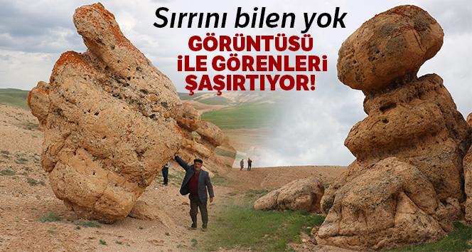 Sivas'taki esrarengiz kayalar dikkat çekiyor