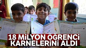 18 milyon öğrenci karnelerini aldı