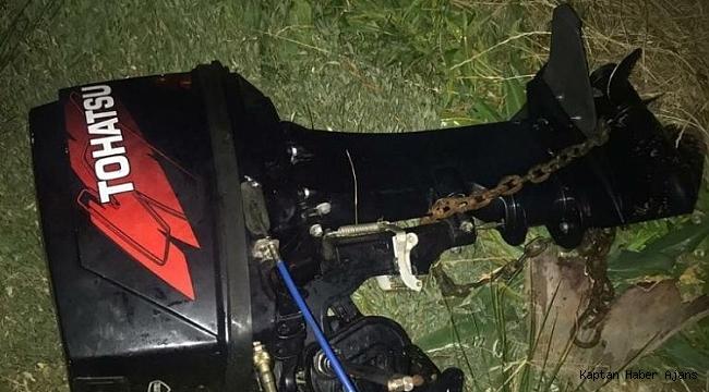 Ayvalık'ta tekne motoru hırsızı tutuklandı