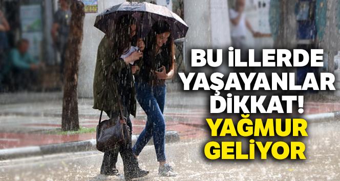Bu illerde yaşayanlar dikkat! Yağmur geliyor |Salı günü hava durumu raporu