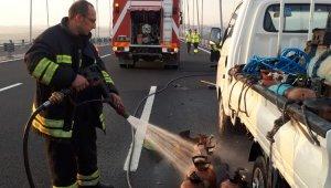 Osmangazi Köprüsü'nde kimyasal gaz paniği