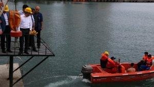 Rize'de Denizde Güvenlik Eğitimi Tatbikatı yapıldı