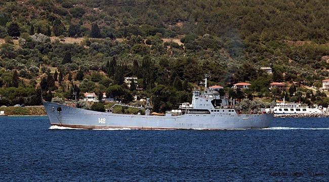 Boğazdan Rus Donanması'na ait 'Orsk' adlı gemi Akdeniz'e geçti