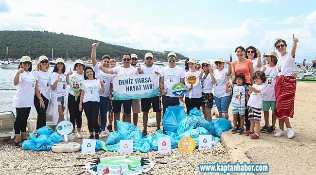 Burgazada'da kıyı temizliği
