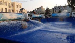 Akdeniz Belediyesi, çocuklar için 4 portatif havuz kuruyor
