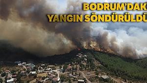 Bodrum'daki yangın 6 saat sonra söndürüldü