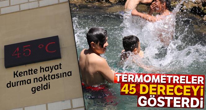 Diyarbakır'da termometreler 45 dereceyi gösterdi