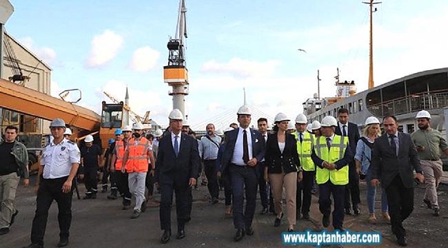 Başkan İmamoğlu, önce Haliç Tersanesi'ni gezdi sonra Boğaz turu yaptı