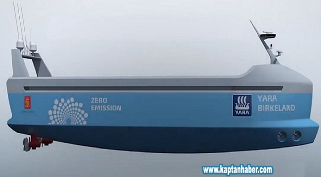 Dünyanın ilk tamamen elektrikli konteyner gemisi suya iniyor