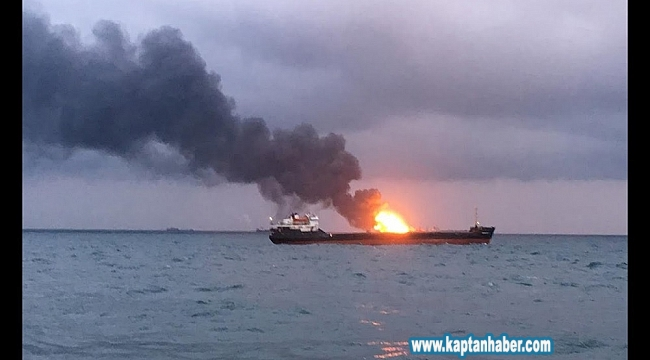 İçinde 412 kişinin bulunduğu gemide yangın çıktı