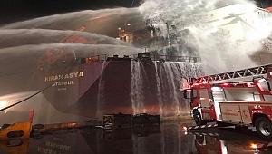 Kıran Asya Gemisi'nde yangın
