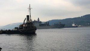 Nusret Mayın Gemisi, TCG Sancaktar gemisini Boğaz geçişinde selamladı