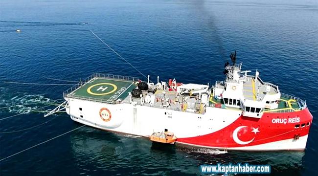 Oruç Reis Gemisi, Antalya'dan Doğu Akdeniz'e doğru demir aldı