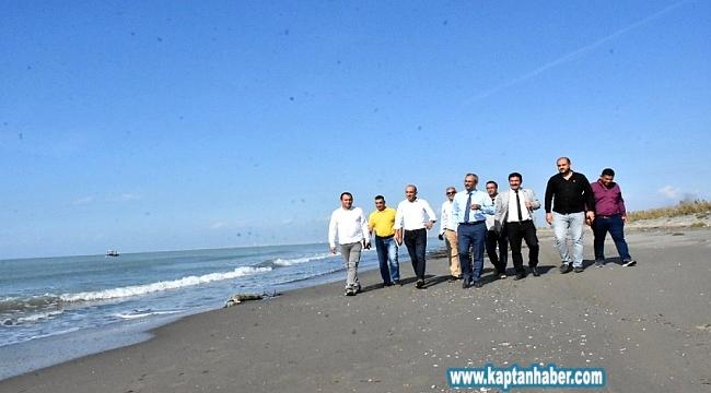Tarsus Plajı'nın halka açılması için düğmeye basıldı
