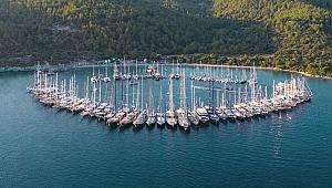 The Bodrum Cup'ta tekneler, denizde görsel şölen oluşturdu.