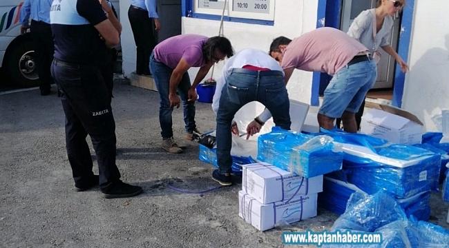 Zabıta ekiplerinden yasa dışı deniz ürünleri operasyonu
