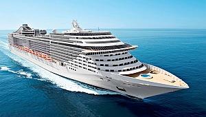 550 yolculu kruvaziyer gemisi İstanbul'da!