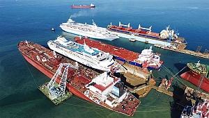 Hurda gemilerden 602 ton çelik elde edildi