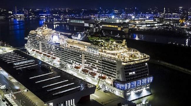 MSC Grandiosa'nın denize indiriş töreni Hamburg'ta gerçekleşti