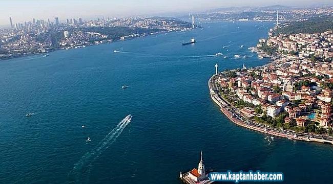 300 metre uzunluğundaki CMA CGM Congo, İstanbul Boğazı'ndan geçti