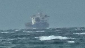 İki kargo gemisi lodos sebebiyle Edremit Körfezi'ne sığındı