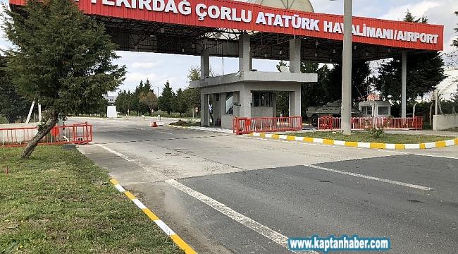 Çorlu Atatürk Havalimanında uçuşlar durdu