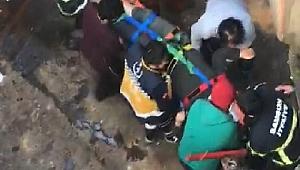 Geminin ambarına düşen şahıs ağır yaralandı