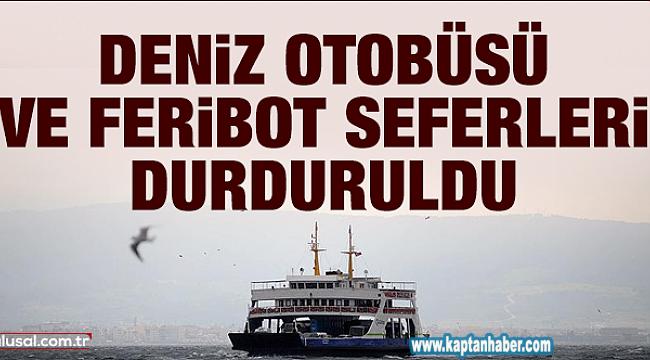 İstanbul Valisi Ali Yerlikaya, Deniz Otobüsü ve Feribot Seferlerinin Durulmasına Karar Verdi