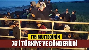 175 Mülteci'nin büyük kısmı Türkiye'ye gönderiliyor