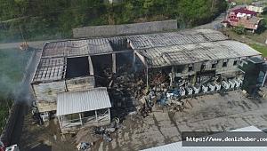 Balık fabrikasında çıkan yangının boyutu gün ağarınca ortaya çıktı