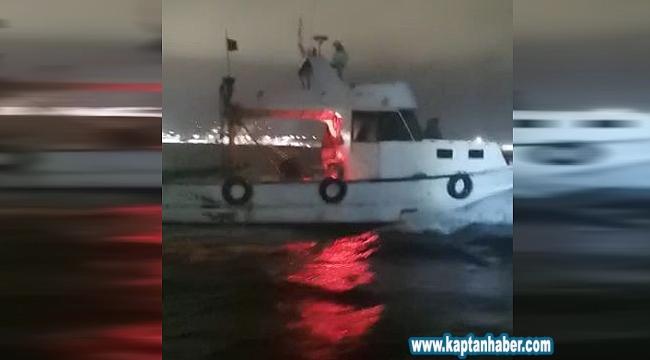 Bursa'da trol teknesi yakalandı