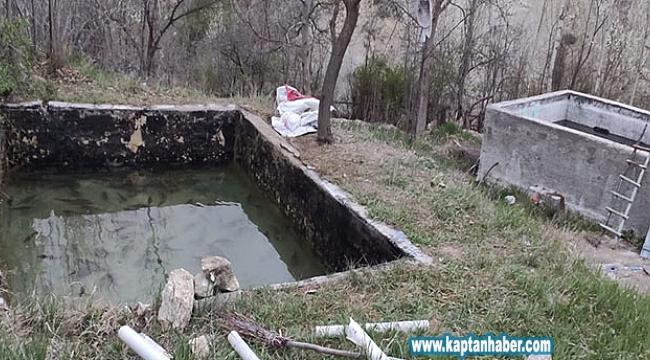 Konya'da bir kişi baraj gölünde avladığı balıkları havuzunda beslerken yakalandı!