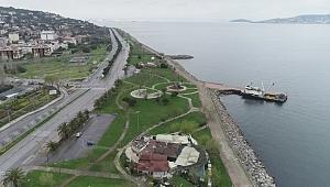 Korona virüs nedeniyle boş kalan Anadolu Yakası sahil şeridi havadan görüntülendi