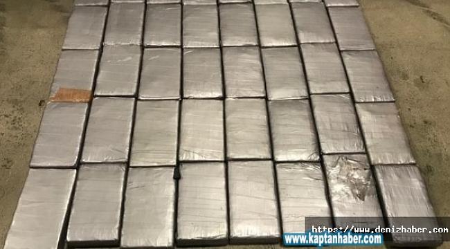 Mersin Limanı'ndaki bir gemide 47 kilo 800 gram kokain ele geçirildi