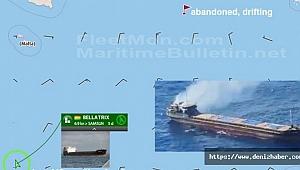 Türk gemisi, Akdeniz'de yanan Ukrayna gemisindeki 12 mürettebatı kurtardı